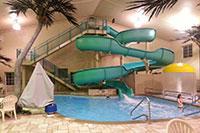 Hotel waterslide