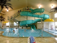 Motel water slide