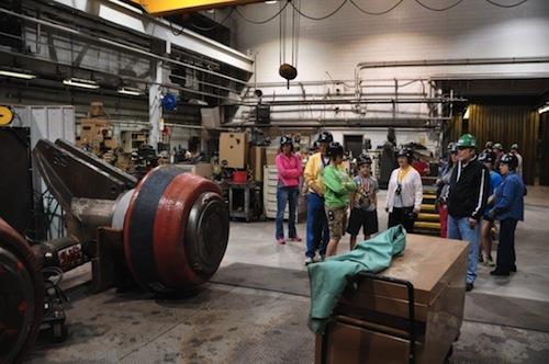 tour going through the plant
