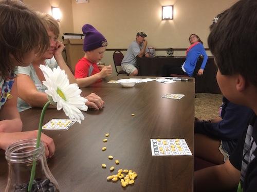 Tour kids playing Bingo